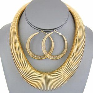 gold color statement piece set